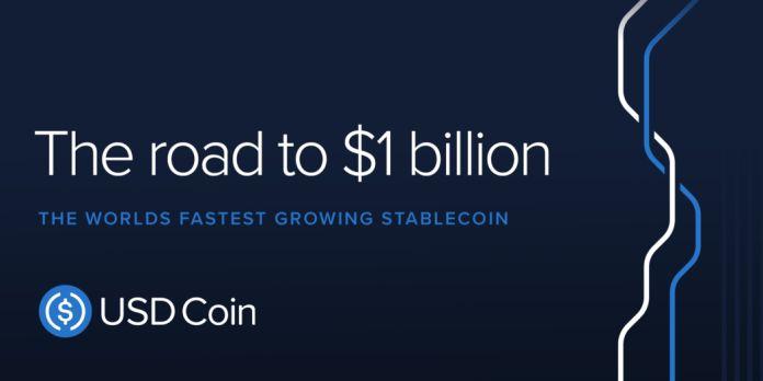 USD Coin 成為首個在一年內發行 10 億美元的穩定幣